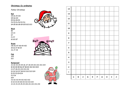 Christmas coordinates by nhktfc  Teaching Resources  Tes