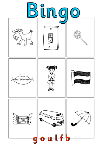 Book report bingo worksheet