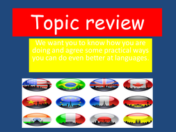 Topic review powerpoint