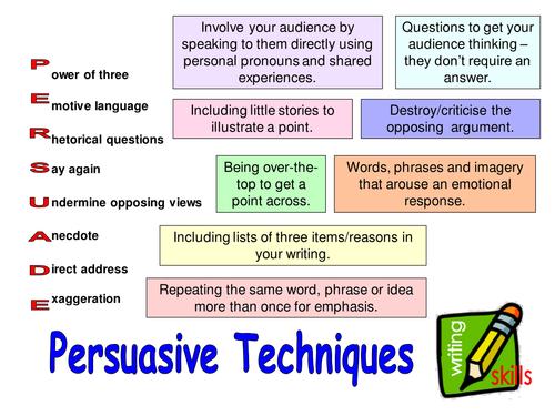 teach persuasive essay