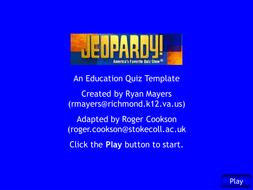 Interactive Self Scoring Jeopardy Template