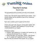 Results tables - teacher notes.doc