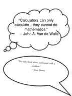 Quotes about maths for wall displays. Posters.