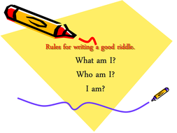 Rules for writing a good riddle.ppt