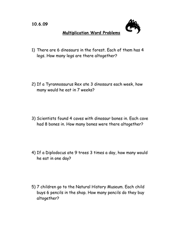 Multiplication - word problems and arrays cards by victeach ...