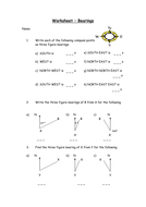 Bearings Lesson with Worksheet Questions&Extension