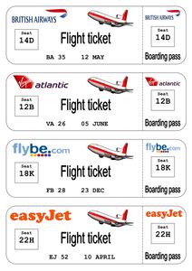 Childrens flight log book