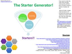 The Starter Generator: KS2 - 4(Ages 7-16) Starters