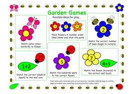 Garden friends maths games
