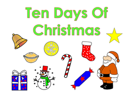 1 10 flip bookpdf ten days of christmas
