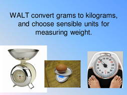 Grams To Kilograms Conversion Powerpoint By Hannahincanada