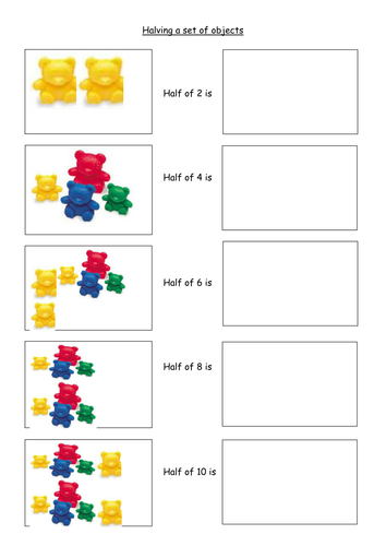 Division As Sharing Worksheets & visual division worksheets