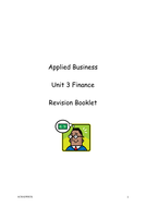 Applied Business Finance Revision Booklet