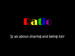 Introduction to Ratio: PowerPoint