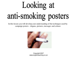 Anti Smoking posters by TesEnglish | Teaching Resources