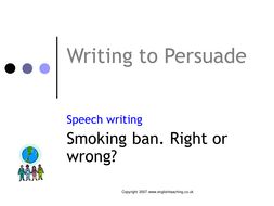 writing to persuade lesson presentation by tesenglish teaching persaude ppt