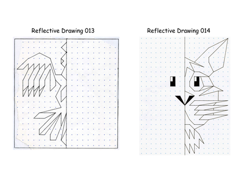 Drawing Lines Of Reflection : Reflective drawing line of symmetry reflection by
