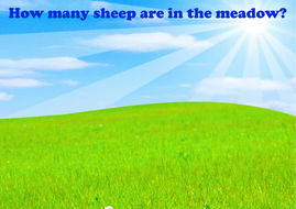 Count the sheep! (counting to 10)