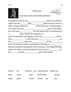 syncopation worksheet - merit.doc