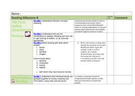 milestone 8 reading tracking sheet sen by mainbanana teaching
