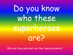 super hero powerpoint by evebatten teaching resources tes
