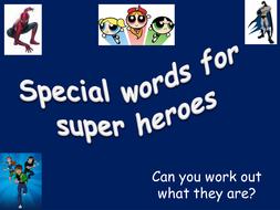 super hero powerpoint by evebatten teaching resources tes