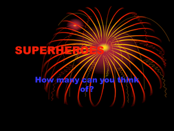 superheroes - superpowers and materials