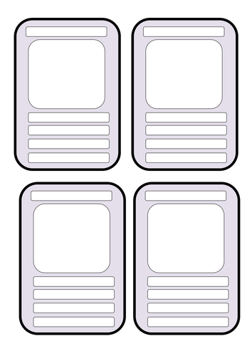 Blank Educational Top Trumps Template. by andream