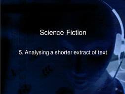 Science fiction powerpoint lesson plans by jodirola teaching comprehensionppt science fiction 5b analysing a shorter extrat of text ppt toneelgroepblik Gallery
