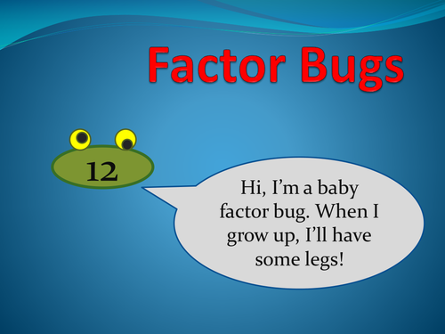 Factor Bugs Inc Prime Numbers Game 6036934 on Maths Puzzle Number