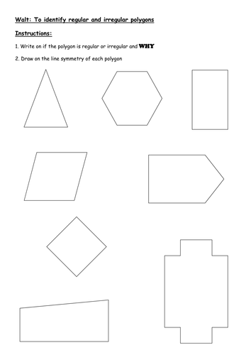 KS2 (7-11 yrs) - finding line symmetry in polygons by ...