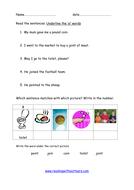 practise reading 'oi' words