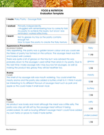 Food Evaluation example.doc