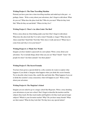 Creative Writing / Reading Book Titles | Studentreasures