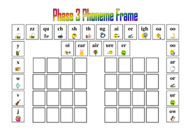Letters And Sounds Phase 3 Phoneme Frame By Hcjohnson Teaching