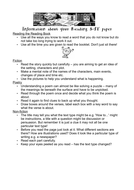 Information about your reading SAT paper