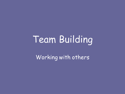 teambuilding activities by the jenmeister teaching resources tes