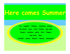 7bc4ce51b5dac Here comes summer by lbrowne - Teaching Resources - Tes
