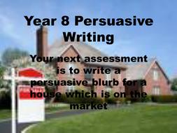 Persuasive Writing: Estate Agents