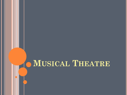 The Impact of Music lesson 4b- Musical Theatre.pptx