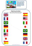 Franco's Matching Flags worksheet