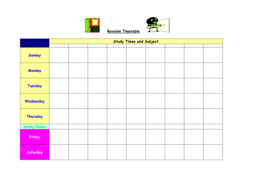 Revision Timetabling made simple! by ninajayneowen - Teaching ...