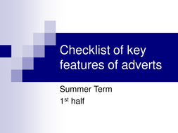 Checklist of key features of adverts.ppt