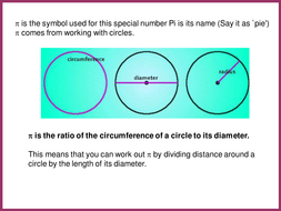 area and circumference of a circle by mrbartonmaths teaching