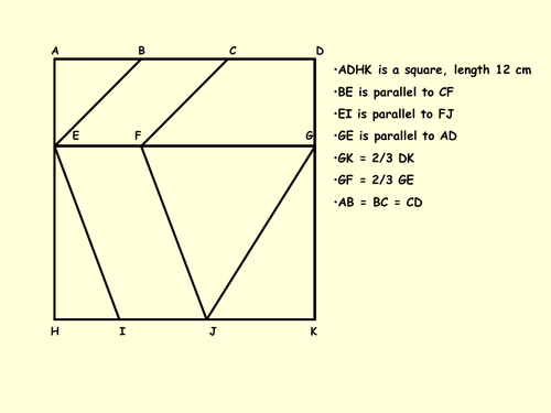 Area Of Quadrilaterals And Triangles Puzzle By