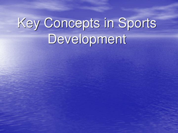 what is the sports development continuum