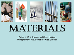 Materials PPT Booklet, science, English