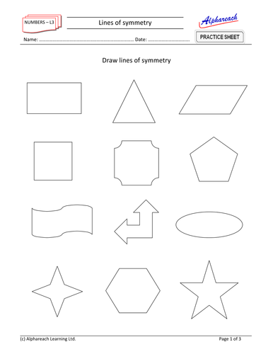 Maths - Lines of symmetry by Areach - Teaching Resources - TES