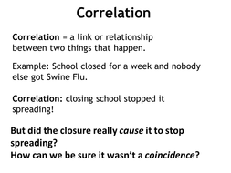 Correlation and cause