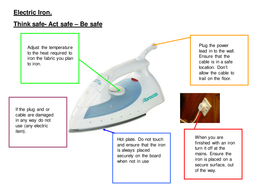 Iron safety starter game - Textiles